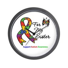 Autism Support Sister Wall Clock