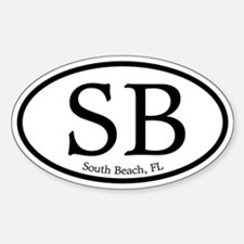 SB South Beach Oval Oval Decal