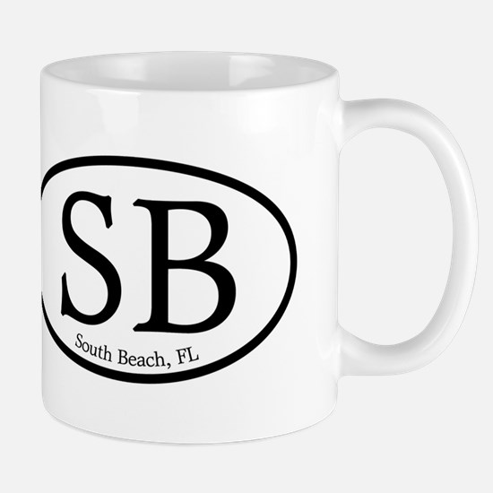 SB South Beach Oval Mug