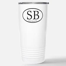 SB South Beach Oval Stainless Steel Travel Mug