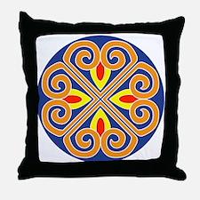 Mandala spokes Throw Pillow