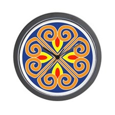 Mandala spokes Wall Clock