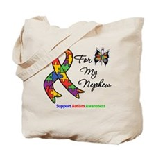 Autism Support Nephew Tote Bag