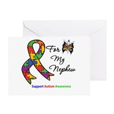 Autism Support Nephew Greeting Card