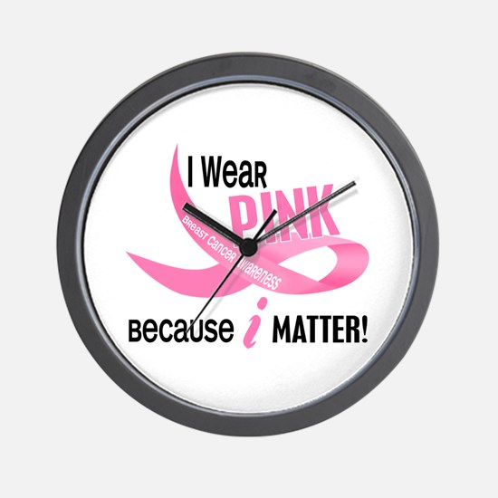 I Wear Pink For Myself 33.2 Wall Clock