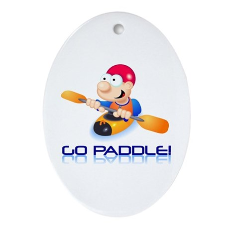 Go Paddle! Oval Ornament