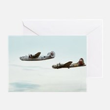 B-24 and B-17 Flying Greeting Card