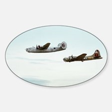 B-24 and B-17 Flying Sticker (Oval)