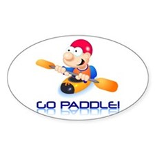 Go Paddle! Oval Bumper Stickers