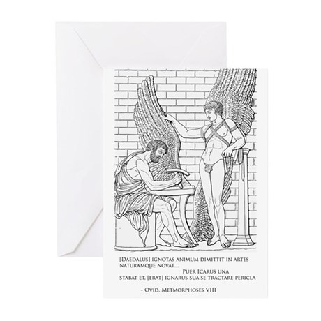 Daedalus and Icarus (Ovid) Greeting Cards (Pk of 2