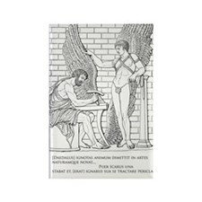 Daedalus and Icarus (Ovid) Rectangle Magnet
