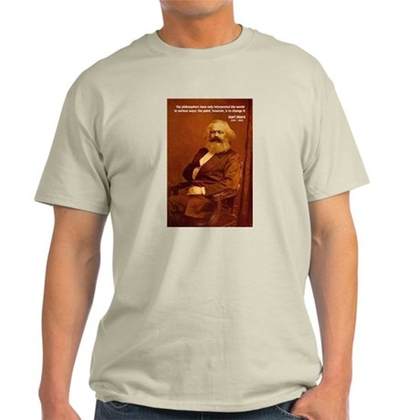 Power of Change Karl Marx Ash Grey T-Shirt