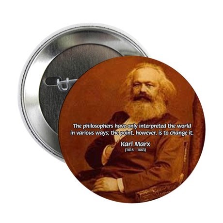 """Power of Change Karl Marx 2.25"""" Button (10 pack)"""