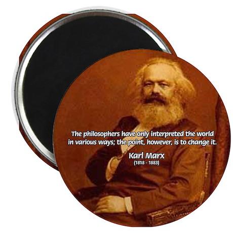 Power of Change Karl Marx Magnet