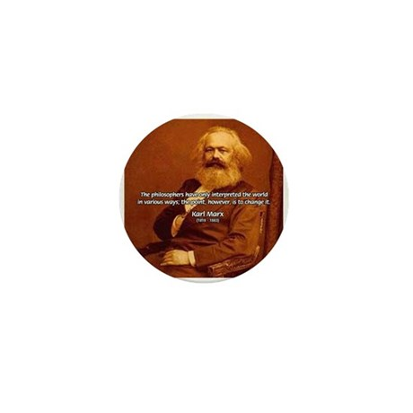 Power of Change Karl Marx Mini Button