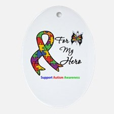 Autism Support Hero Oval Ornament