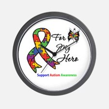 Autism Support Hero Wall Clock