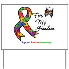 Autism Support Grandson Yard Sign