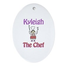 Kyleigh - The Chef Oval Ornament