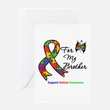 Autism Support Brother Greeting Card