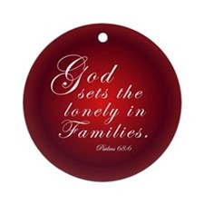 Adoption Christmas Ornament (Round)