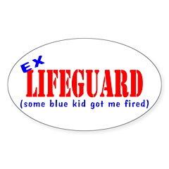 Ex Lifeguard Oval Decal