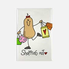 Shopping Nut Rectangle Magnet