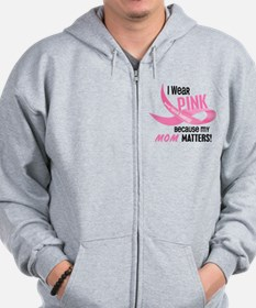 I Wear Pink For My Mom 33.2 Zip Hoodie