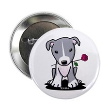 """Blue Pit Bull 2.25"""" Button (100 pack)"""