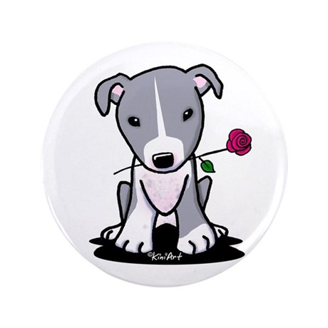 """Blue Pit Bull 3.5"""" Button (100 pack)"""