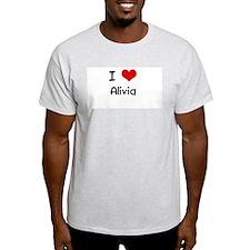 I LOVE ALIVIA Ash Grey T-Shirt