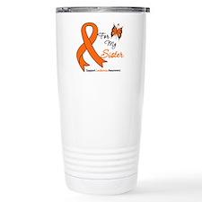 Leukemia Ribbon Sister Travel Mug