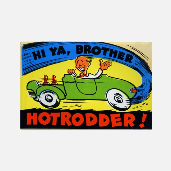 Cute Dragster drag racing stock custom Rectangle Magnet