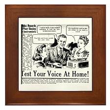 Funny Records Framed Tile