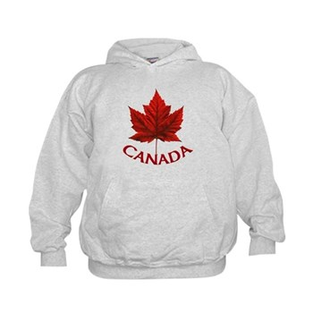 Kid's Canada Souvenir Sweatshirt Maple Leaf Hoodie