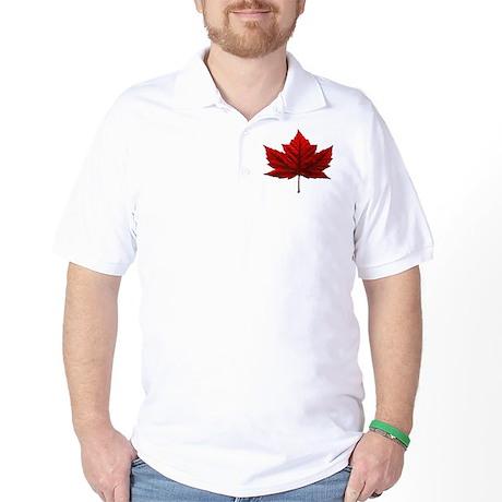 Canada Souvenir Golf Shirt Canadian Maple Leaf Art