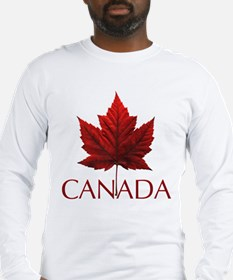 Canada Souvenir Long Sleeve T-Shirt Maple Leaf Art