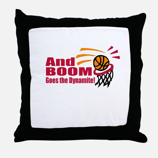 And Boom Goes the Dynamite Throw Pillow