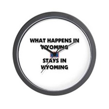 What Happens In WYOMING Stays There Wall Clock