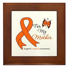 Leukemia Ribbon Mother Framed Tile