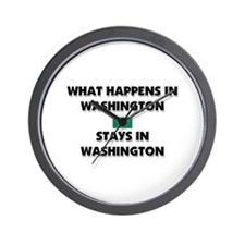 What Happens In WASHINGTON Stays There Wall Clock