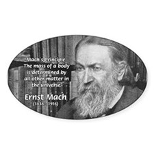 Cosmology: Mach's Principle Oval Decal