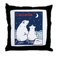 Canada Polar Bear Throw Pillow