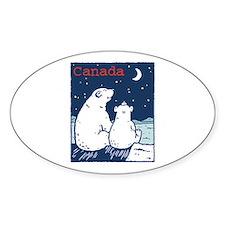 Canada Polar Bear Oval Decal