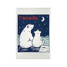 Canada Polar Bear Rectangle Magnet