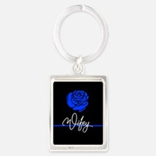 Police Wife Rose Keychains