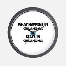 What Happens In OKLAHOMA Stays There Wall Clock