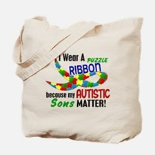 I Wear Puzzle Ribbon Sons 33 Tote Bag