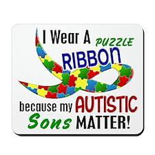 I Wear Puzzle Ribbon Sons 33 Mousepad