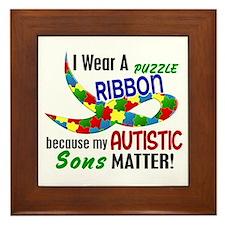 I Wear Puzzle Ribbon Sons 33 Framed Tile